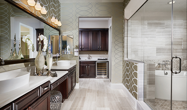 Master bath, Robert model, Las Vegas