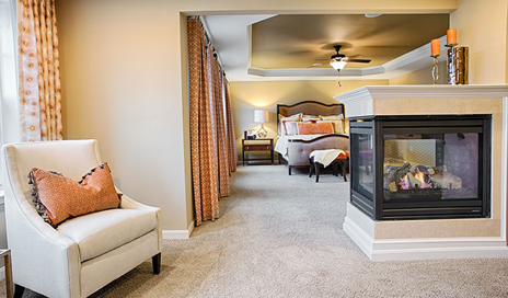 Amherst model master bedroom