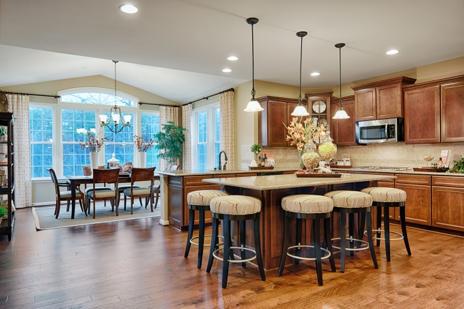 Amherst model kitchen & sunroom