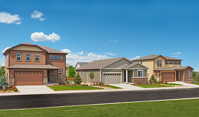 New homes at Jacoby Farm in Windsor, Colorado