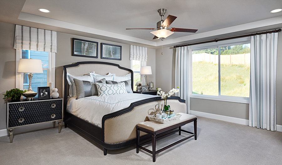 Master bedroom of the Seth model in Washington