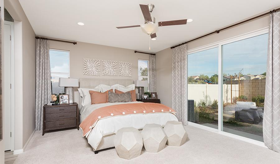 The Julia Model Home Master Bedroom