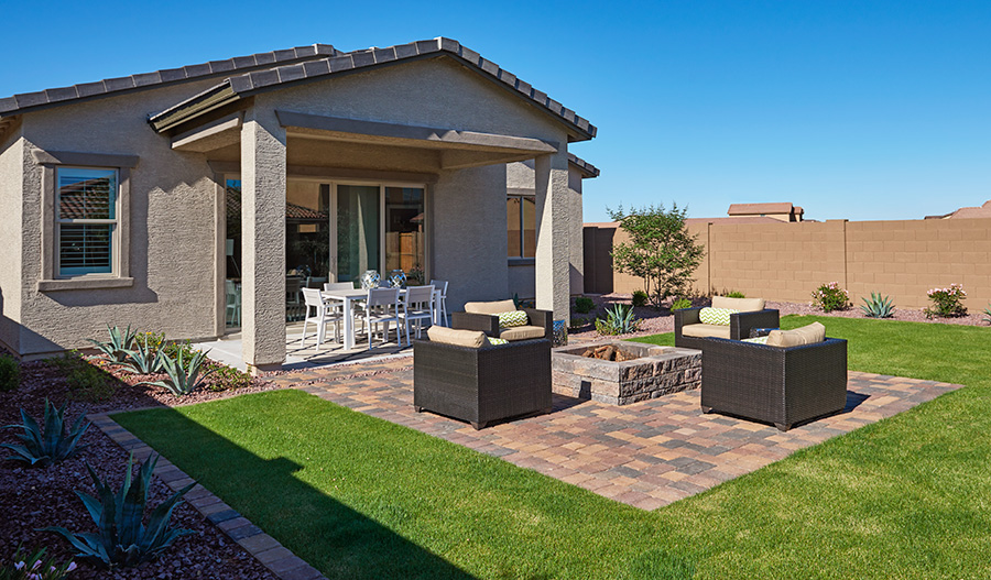Covered patio at Phoenix model