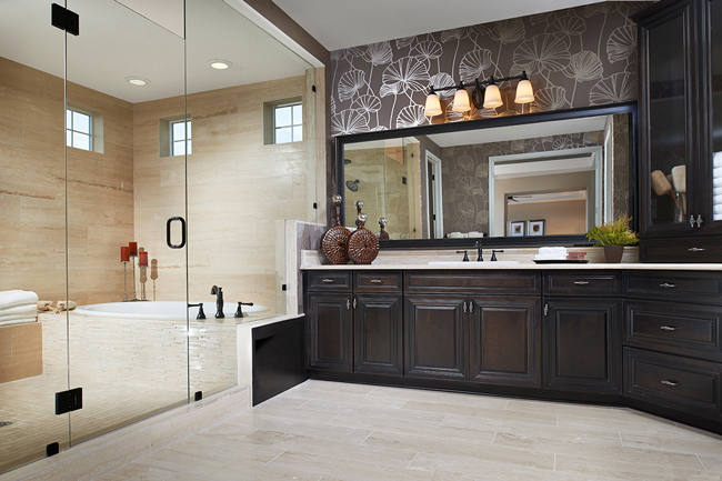 Master bath in the Harmon model, CO