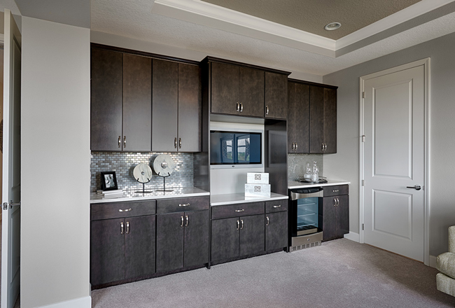Master suite coffee bar in the Harmon model, FL