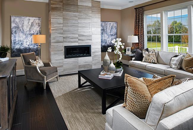 Great room in the Harmon model, VA