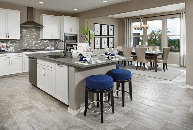 Kitchen and nook of Yorktown model home in Tucson