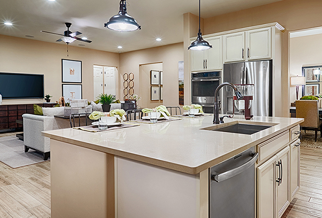 Delaney model home kitchen in Tucson