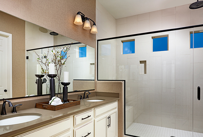 Delaney model home master bath in Tucson