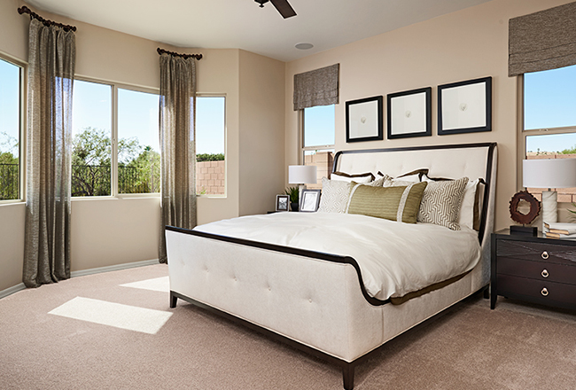 Delaney model home master suite in Tucson