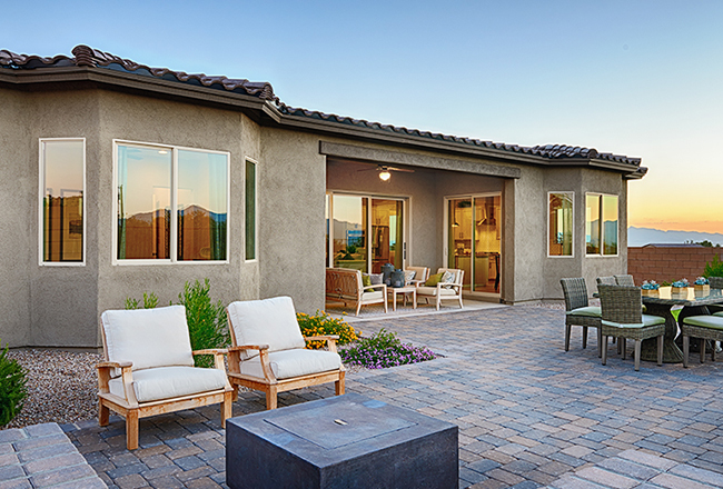 Delaney model home outdoor living in Tucson