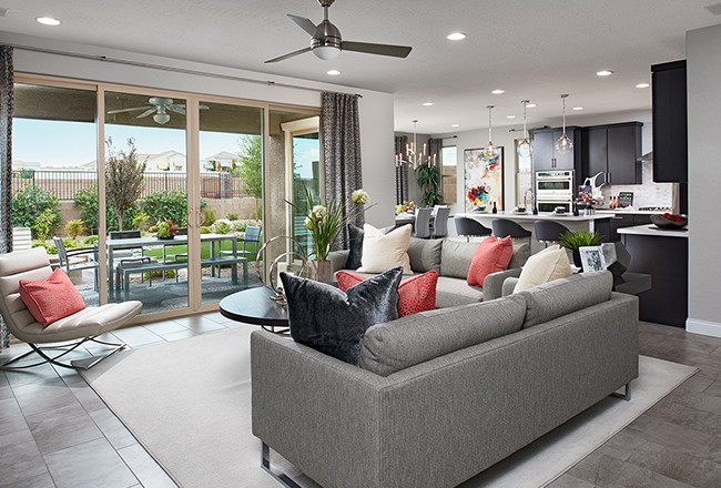 Easy access from the great room and nook makes the covered patio a natural extension of the home's entertaining spaces.