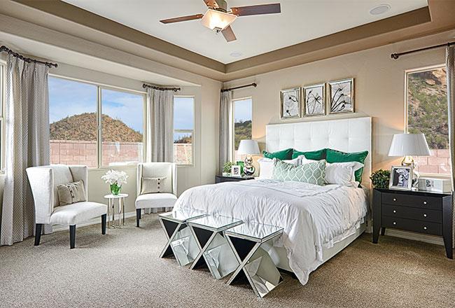 Dominic model home master bedroom in Tucson