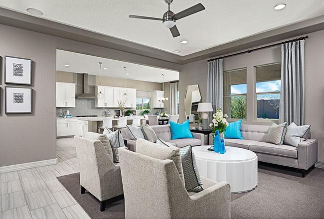 Dominic model home great room in Phoenix