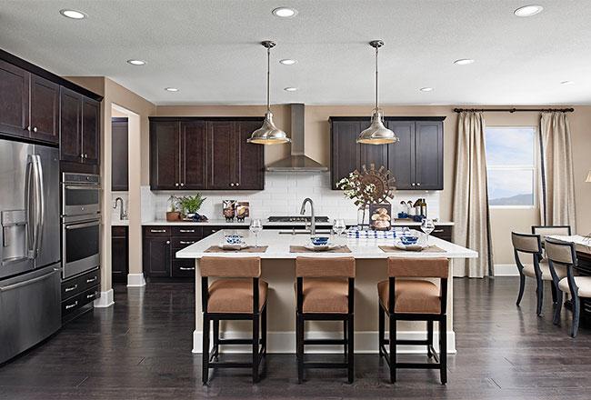 Dominic model home kitchen in Las Vegas