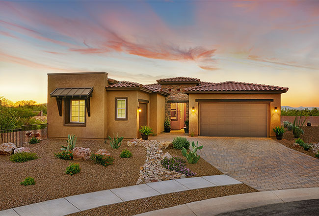 Dominic model home exterior in Tucson