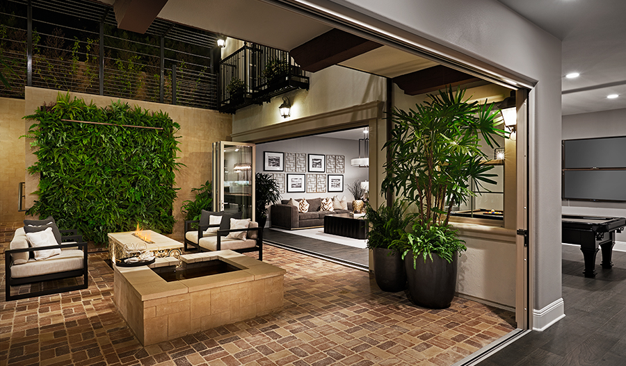 Basement courtyard