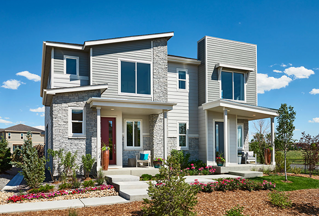 Exterior photo of the Boston & Chicago paired-home model in Colorado