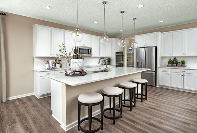 Hanson floor plan - kitchen