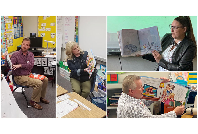 Before the pandemic, several members of the Las Vegas team shared stories with Jesse D. Scott Elementary School students to celebrate Nevada Reading Week! This was the second year the team has volunteered at the under-served school, in addition to donating library and teachers' lounge furniture and contributing to their community learning garden.