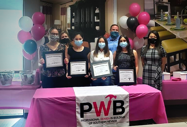 """Richmond American Homes of Nevada was one of several corporate sponsors who stepped up to fill a funding gap for the Professional Women in Building (PWB) Council's Building Hope Scholarship. The award presentation, hosted at our Las Vegas office, included members of the PWB Council and the 10 young recipients, who each received scholarships from $2,000 to $2,750 to use toward education and certification for building industry careers. Read more on <a href=""""https://vegasnews.com/194281/professional-women-in-building-awards-23000-in-scholarships-providing-growth-opportunities-for-women-in-construction.html"""" target=""""_blank"""" rel=""""noopener noreferrer"""">VegasNews.com</a>."""