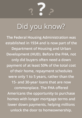 FHA facts