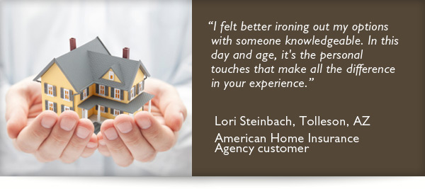 Testimonial from American Home Insurance Agency customer