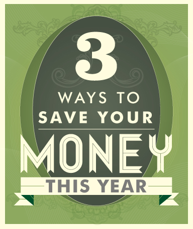 3 Ways to Save money graphic