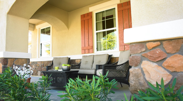 Attractive front porch
