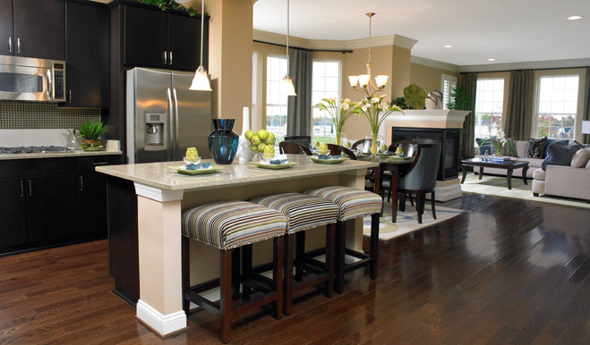 Attractive Kitchen and dining room