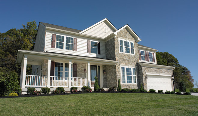 The Jackson model home in Franklinville