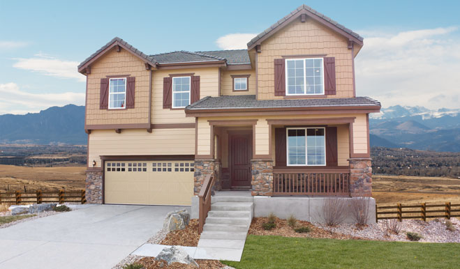 front view of new home in Colorado