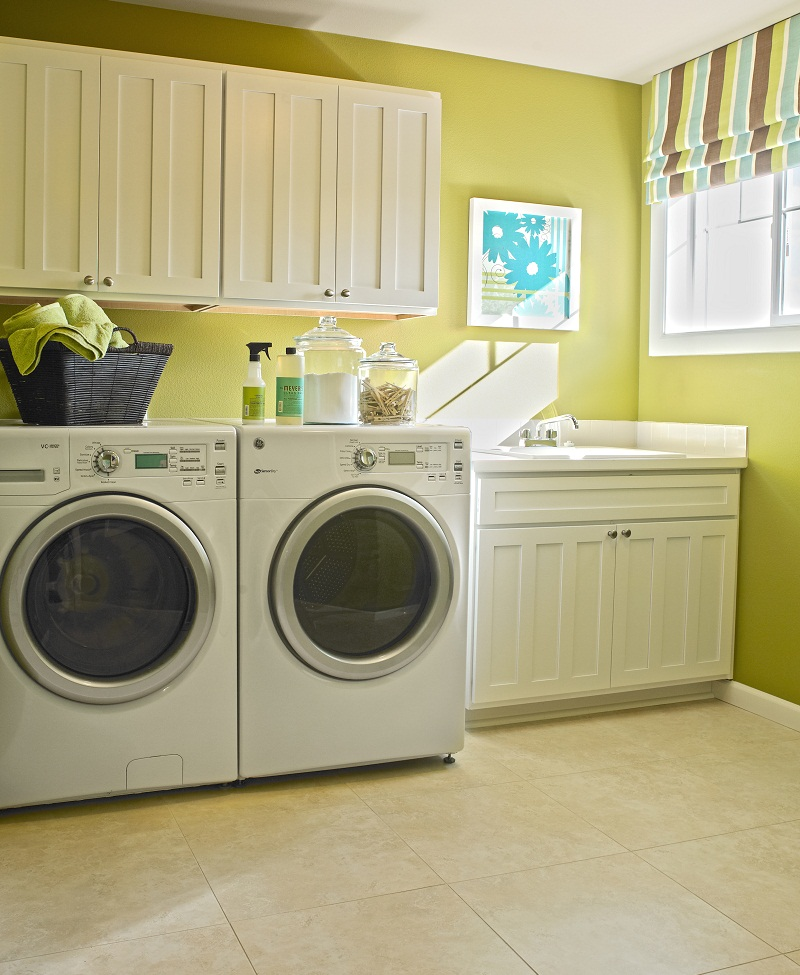 Organized laundry room in Washington