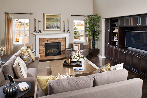 Great room staging photography