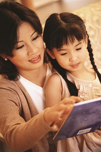 Talking and reading to child