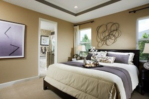 Clean master bedroom