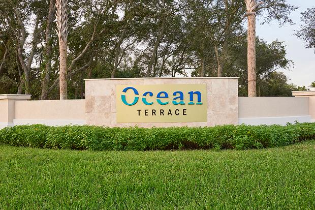 Monument sign for Ocean Terrace