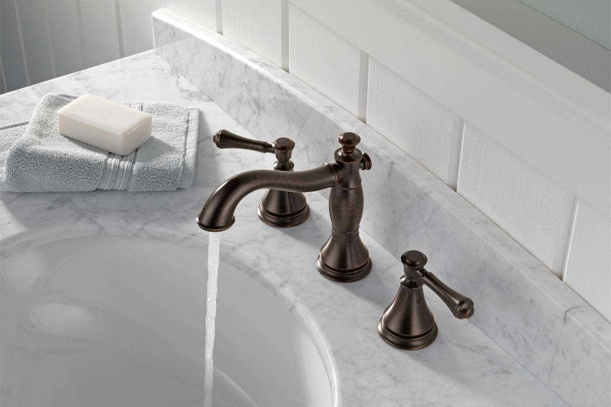 Delta® Cassidy™ faucet • Model #: 3597LF-RBMPU