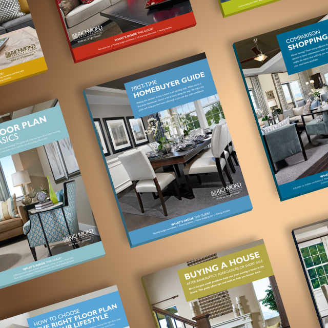Image of several guides for homebuyers