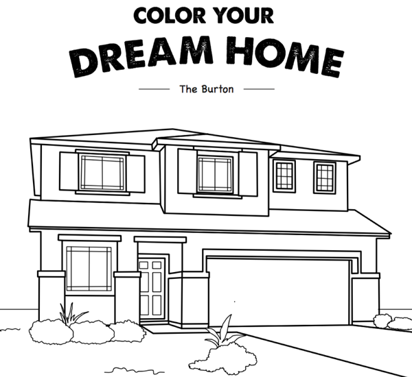 bring these coloring sheets along to occupy your children during model and quick move in home tours
