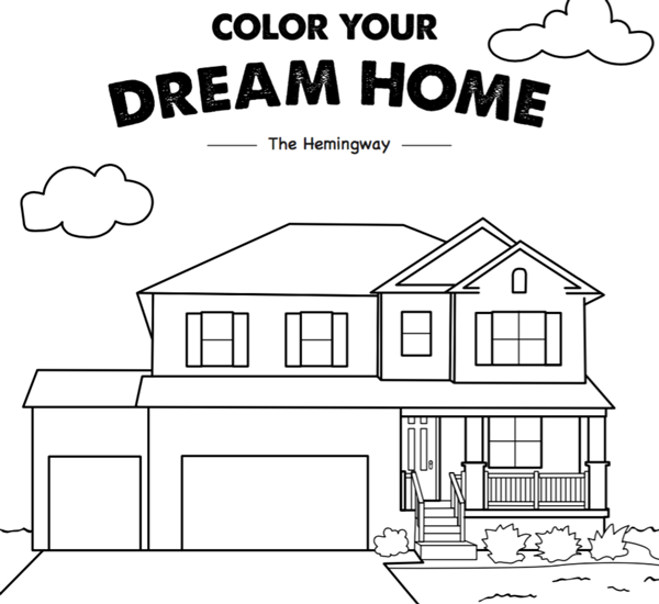 free coloring pages (house)