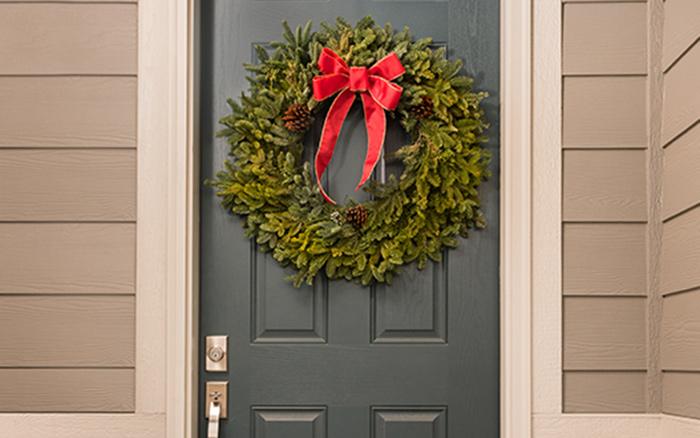 Wreath on a door