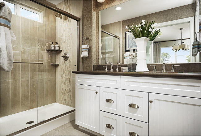 master bath in the Wallace model home