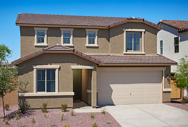 Two-story Citrine model home exterior