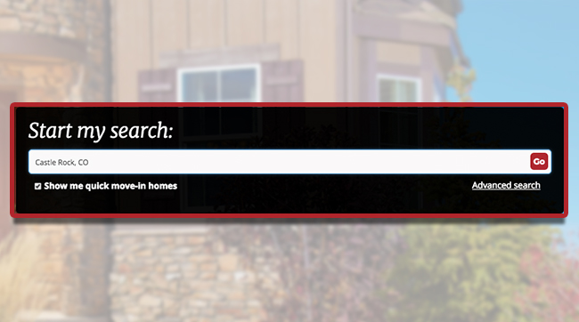 <b>Quick Move-in Homes</b><br /> A handy, can't-miss checkbox to help you find quick move-in listings in your area.