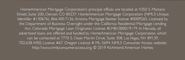 Licensing information for HomeAmerican Mortgage Corporation