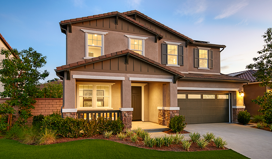 Exterior of the Hemingway Floor Plan Model Home at Vaquero at Audie Murphy Masterplan