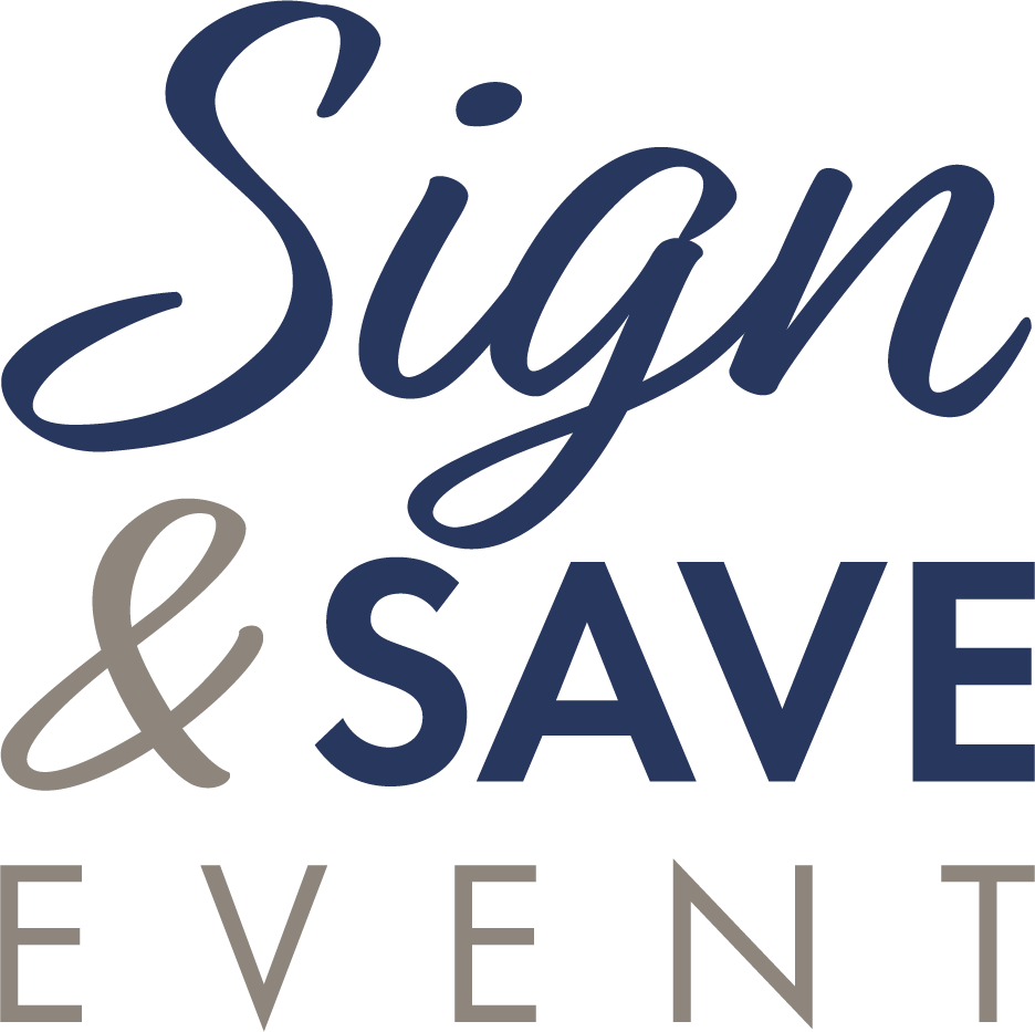 Sign and Save Event