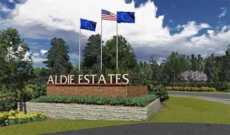 Entrance to the Aldie Estates community in Northern Virginia