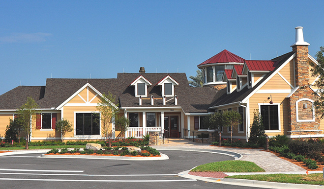 Community club house at Rolling Hills at Lake Asbury in Jacksonville